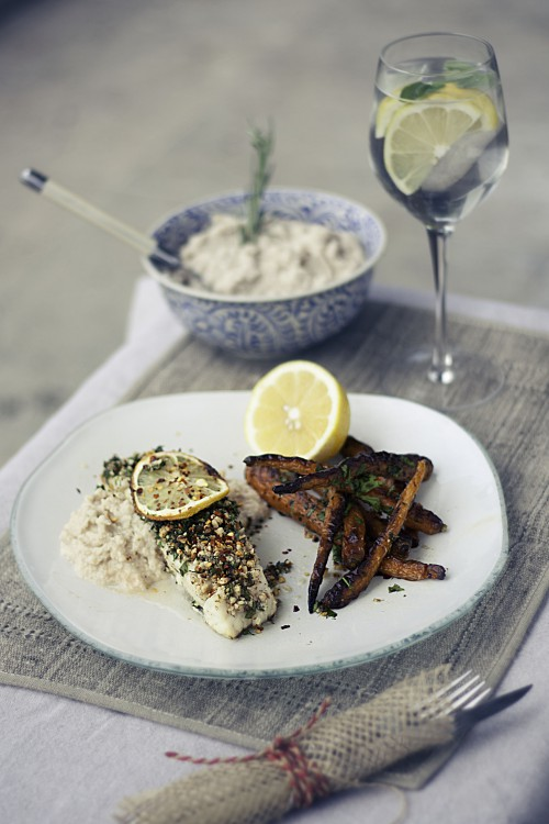 MAIN MEAL- ALMOND CRUSTED SNAPPER