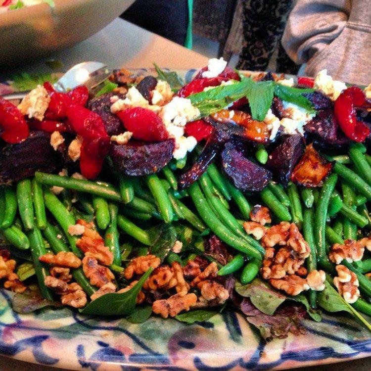 greenbean beet salad