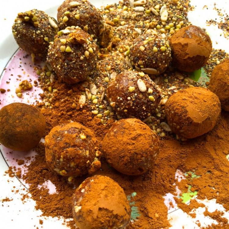 Carob Cinnamon Seed Balls
